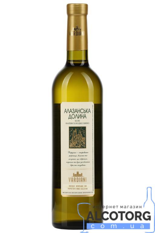 (Русский) Вино Алазанская Долина белое полусладкое Vardiani 0,75 л.