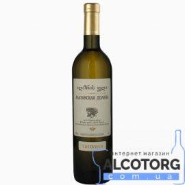 Вино Алазанська Долина Тбілвино біле напівсолодке, Alazani Valley white Tbilvino 0,75 л.