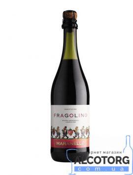 Напій на основі вина Маранелло Фраголіно Зі смаком полуниці солодке червоне, Maranello Fragolino 0,75 л.