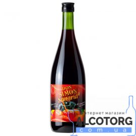 Вино Ароматизированное Дон Симон Сангрия сладкое красное, Don Simon Sangria 1 л.