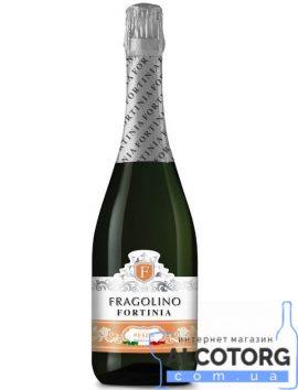 Напій на основі вина Фраголіно Песко Фортініа біле напівсолодке, Fragolino Pesco Fortinia 0,75 л.