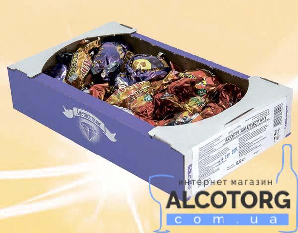Коробка конфет Ассорти Аметист 0,5 кг.