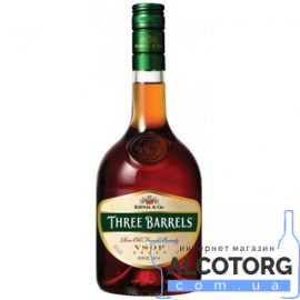 Бренді Три Барреля ВСОП, Three Barrels VSOP 1 л.