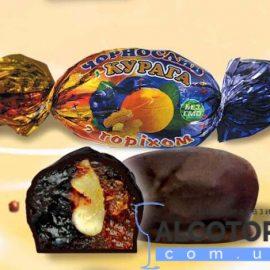 Цукерки Чорнослив + Курага з горіхом в шоколаді 1 кг. Конфеты Чернослив + Курага с орехом в шоколаде 1 кг. alcotorg.com.ua