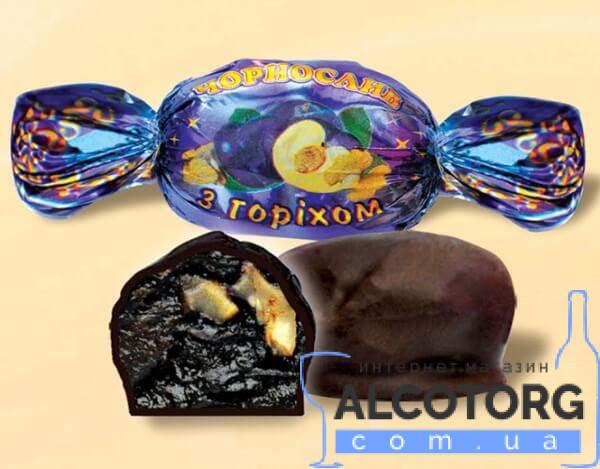 Конфеты Чернослив с орехом в шоколаде Аметист 1 кг.