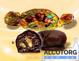 Цукерки Фінік з горіхом в шоколаді 1 кг. Конфеты Финик с орехом в шоколаде 1 кг. alcotorg.com.ua
