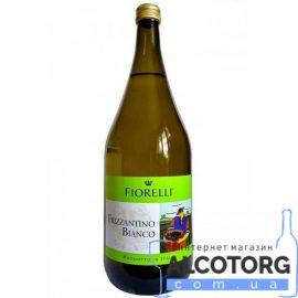 Напій на основі вина Фіореллі Фріззантіно Бьянко напівсолодке біле, Fiorelli Frizzantino Bianco 1,5 л.