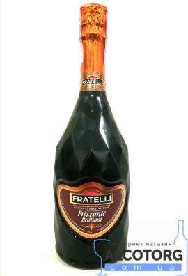 Вино Слабогазоване Ігристе Фрателлі Фріззанте Россо напівсолодке червоне, Fratelli Frizzante Rosso 0,75 л.