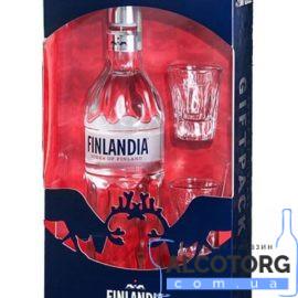 Горілка Фінляндія + 2 чарки, Finlandia Vodka + 2 glasses 0,7 л.
