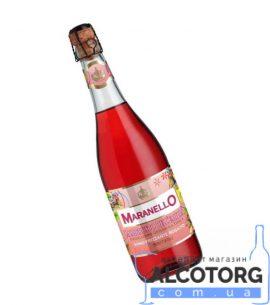 Ігристе вино Маранелло Ламбруско дельЕмілія Розато напівсолодке рожеве, Maranello Lambrusco dell'Emilia IGT Rosato semi dolce 0,75 л.