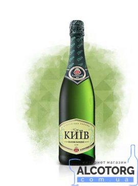 Вино Ігристе Наш Київ напівсолодке біле 0,75 л.