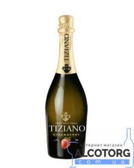 Ігристий винний напій Тіціано Полуниця червоне напівсолодке, Tiziano Sparkling Strawberry 0,75 л.