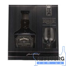 Віскі Джек Деніелс Сінгл Баррел + бокал, Jack Daniel's Single Barrel + glasse 0,7 л.