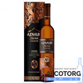 Коньяк Азнаурі 5 зірок в тубусі, Aznauri 5* 0,5 л.