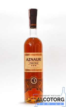 Коньяк Азнаурі 3 зірки, Aznauri 3* 0,5 л.