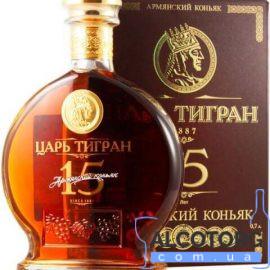 Коньяк Цар Тигран 15 Років В Коробці 0,7 Л.