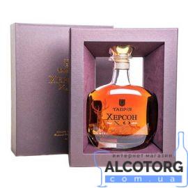 Коньяк Херсон колекційний 15 років в коробці, Kherson 15 years 0,7 л.