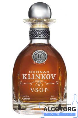 Коньяк Клінков ВІП ВСОП коробка, Klinkov VIP VSOP 0,5 л.