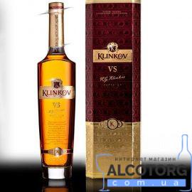Коньяк Клінков ВС 5 років коробка, Klinkov VS 5 years 0,5 л.