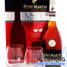 Коньяк Ремі Мартін ВСОП + 2 склянки коробка, Remy Martin VSOP + 2 glasses 0,7 л.