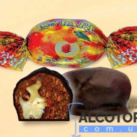 Цукерки Курага з горіхом в шоколаді 1 кг. Конфеты Курага с орехом в шоколаде 1 кг. alcotorg.com.ua