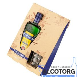 Настоянка Бехеровка +1 бокал, Becherovka +1 glass 0,7 л.