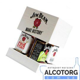 Набір Джим Бім 4 роки, Jim Beam 4 years white 0,7 л + Red Stag 0,7 л, + Honey 0,7л + Apple 0,7л.