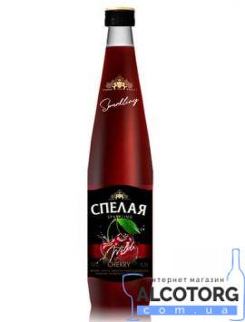 Напій плодово-ягідний зброджений газований рожевий Спелая Вишня 0,5 л.