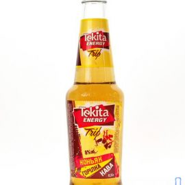 Напій слабоалкогольний Tekita energy trio зі смаком коньяку горілки кави | Напиток слабоалкогольный Tekita energy trio со вкусом коньяка водки кофе