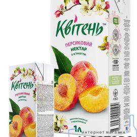 Нектар персиковий з м'якоттю Квітень 0,2 л.