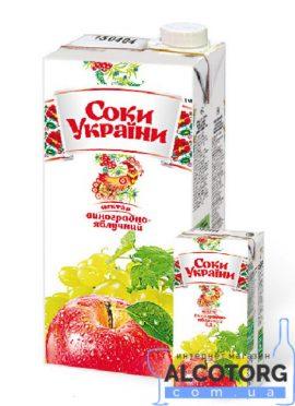 Нектар виноградно яблучний Соки України 0
