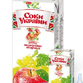 Нектар виноградно яблучний Соки України 1 л.