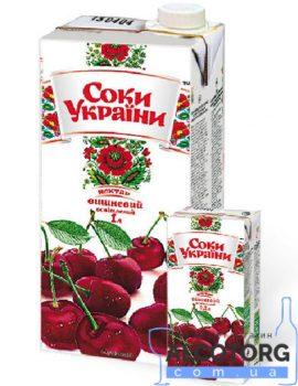 Нектар вишневий освітлений Соки України 0