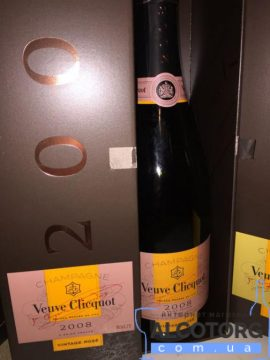 Шампанське Вдова Кліко Брют Вінтаж Розе в коробці, Veuve Clicquot Vintage Rose 2008 0,75 л.