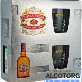 Chivas Regal 12 years old + 2 glasses with box 0