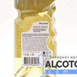 Вино Фреш Уайт Болград Рука напівсолодке біле, Bolgrad Fresh White Good Year 0,75 л.