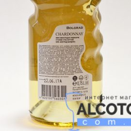 Вино Шардоне Болград Рука сухе біле, Bolgrad Chardonnay Good Year 0,75 л.