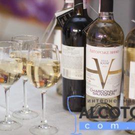 Вино Шардоне Совіньон Вілла Крим біле сухе, Chardonnay Sauvignon Villa Krim 0,75 л.