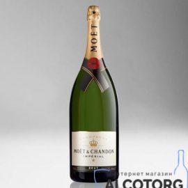 Шампанське Моєт Шандон Брют Імперіал біле сухе, Moet + Chandon Brut Imperial 6 л.