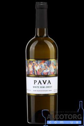 Вино Пава біле напівсолодке