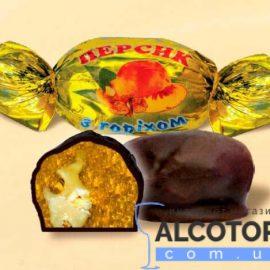 Цукерки Персик з горіхом в шоколаді 1 кг. Конфеты Персик с орехом в шоколаде 1 кг. alcotorg.com.ua