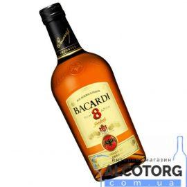 Ром Бакарді 8 років, Rum Bacardi 8 years 1 л.