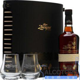 Ром Закапа Сентенаріо 23-річний + 2 склянки, Zacapa Centenario 23 years 2 glasses 0,7 л.