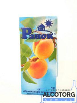 Сок абрикосовый с мякотью Ранок 1 л.