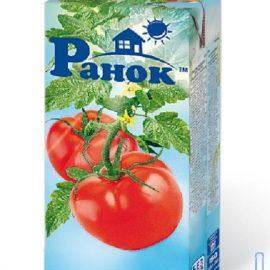 Сік томатний відновлений Ранок 1 л.