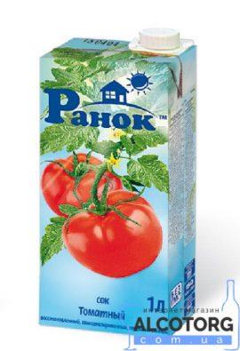 Сік томатний відновлений Ранок 1 л. Сок томатный восстановленный Ранок 1 л. alcotorg.com.ua