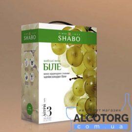 Вина Шабські Біле Напівсолодке Шабо, Shabo Bag&Box 3 Л.