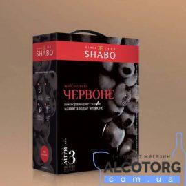 Вина Шабські Червоне Напівсолодке Шабо, Shabo Bag&Box 3 Л.