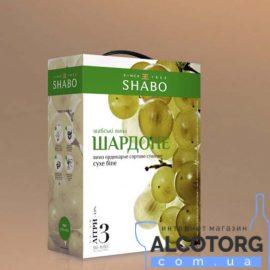 Вина Шабські Шардоне Сухе біле Шабо, Shabo Bag&Box 3 Л.