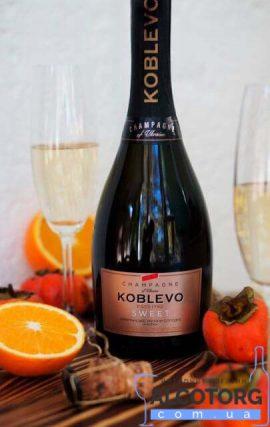 Шампанське Коблево біле солодке, Koblevo Sweet 0,75 л.